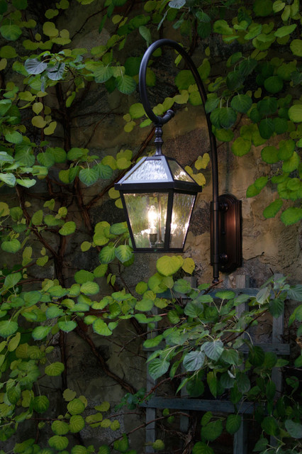 Custom Exterior Wall Lights : London? Lantern Exterior Wall Light with Custom Curled Arm - Outdoor Lighting - by Brass Light ...
