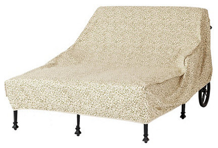 Outdoor Double Chaise Cover - traditional - outdoor chaise lounges