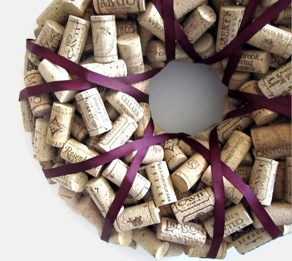 Plummy Wine Cork Wreath by Lizzie Joe Designs eclectic accessories and decor