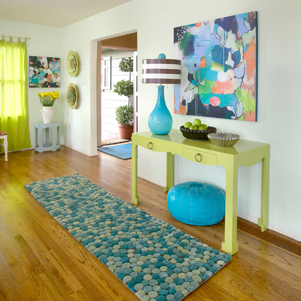 Vibrant Entryway contemporary-artwork