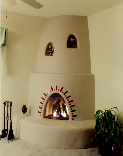 Adobelite santa fe kiva fireplace indoor fireplaces for Kiva fireplaces