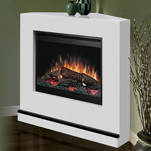 Milan White Wall Or Corner Electric Fireplace Bspc 26