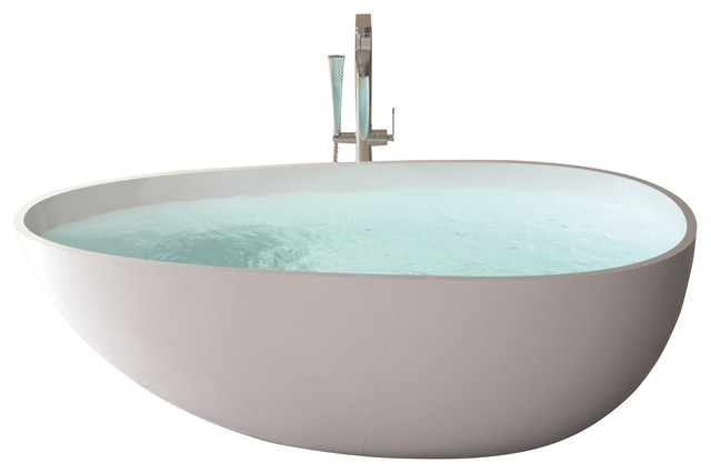 Adm white solid surface stone resin bathtub large glossy Bath tubes