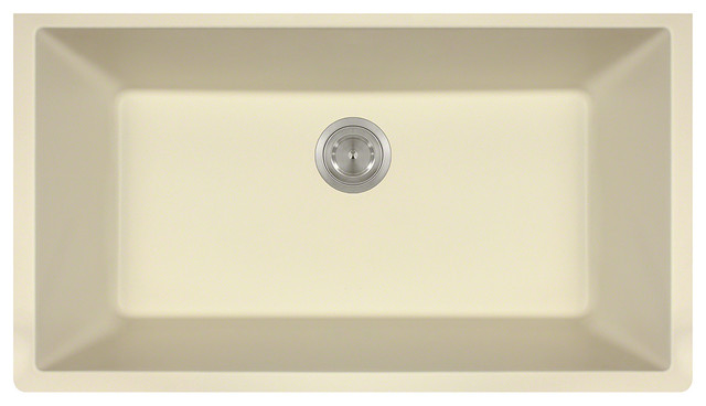 Mr Direct 848 Trugranite Large Single Bowl Beige Colored