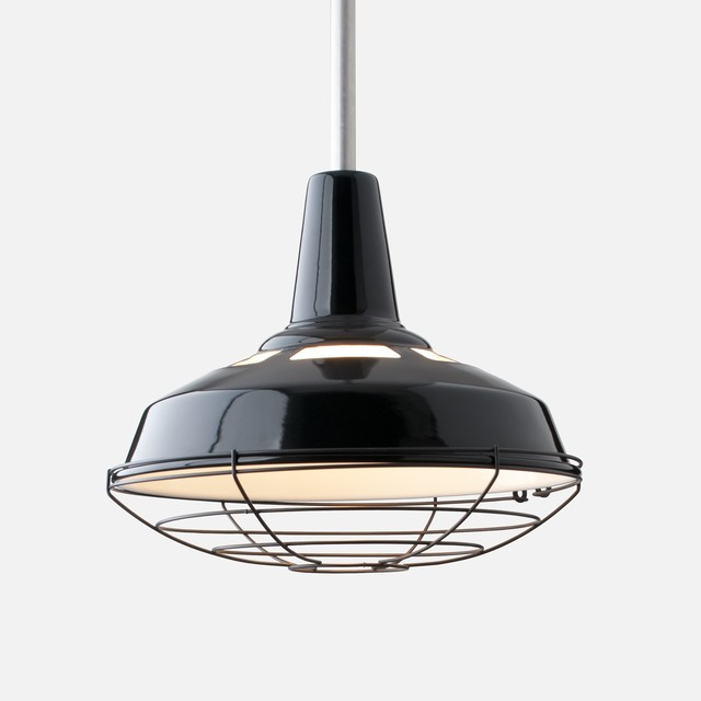 Factory Light No 5 Rod Pendant Fixture