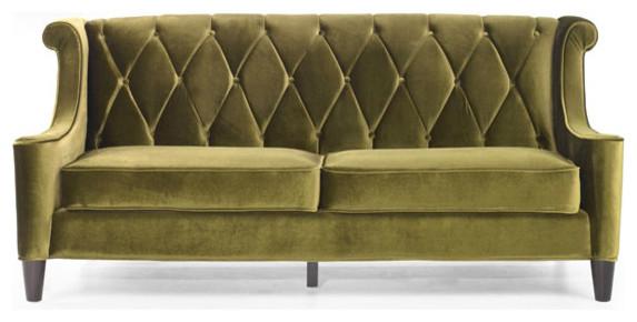 Modern Green Velvet Sofa eclectic-sofas