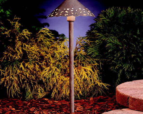 Kichler - 15843NBK Brick Kichler LED Hammered Roof Landscape Path Light - Call for best prices. Here's our low price guarantee.