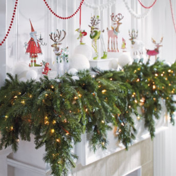Cascading Christmas Garland traditional-holiday-decorations