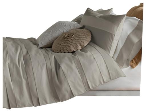 Belgravia Duvet Set, King, Dove Grey contemporary-duvet-covers
