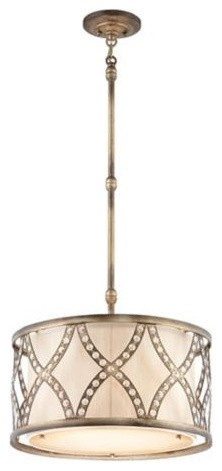 Golden Bronze Criss-Cross Pendant Light contemporary-pendant-lighting