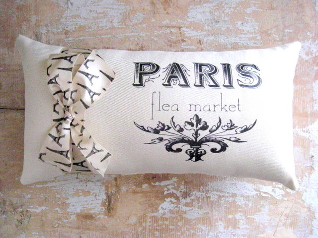 Paris Pillow, French Decor, Cottage, French Country Home contemporary pillows
