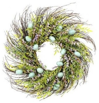 Easter Wreath eclectic holiday outdoor decorations