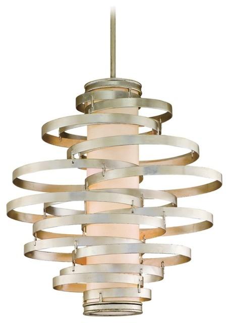 corbett vertigo collection 4 light silver pendant