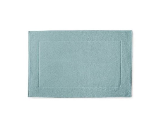 Serena & Lily - Textured Cotton Bath Mat  Aqua - Loops of comfy cotton create a great texture that our feet (and eyes) can 't get enough of. Thick and absorbent, it 's heavenly for the bath and a great new basic that works well with practically any color scheme.