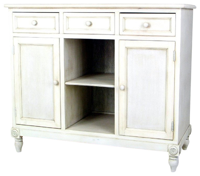 Wayborn Brookfield Sideboard in Whitewash farmhouse-buffets-and-sideboards