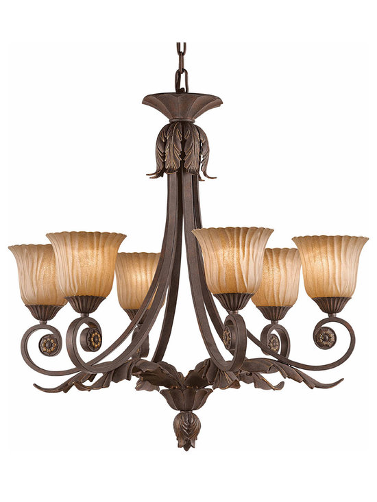 Triarch International - Triarch 39613 Vienna Weathered Bronze 6 Light Chandelier - Triarch 39613 Vienna Weathered Bronze 6 Light Chandelier