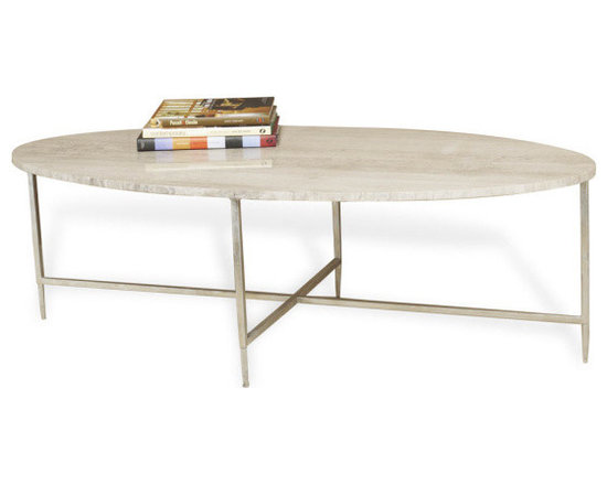 Greenwich Gray Marble Silver Oval Cocktail Table - Greenwich gray marble and silver coffee table is a fabulous new addition!  This beautiful oval cocktail table has exceptional legs and is made from silver leafed iron and beautiful gray marble. Each piece of gray marble has beautiful veins and stunning natural variations ranging from dark to light gray.  We love that each table is unique. Charlotte & Ivy loved the distinctive shape and graceful design of this table.