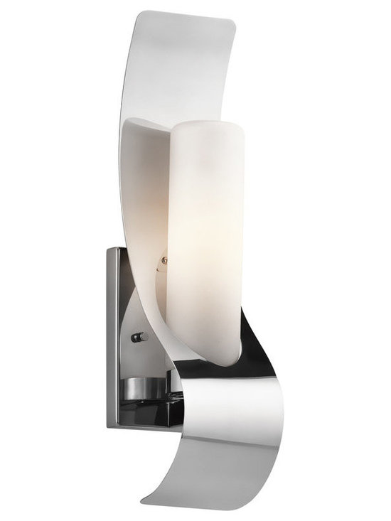 Kichler Lighting - Polished Stainless Steel Lifetime Finish Zolder 1 Light 17 Outdoor Wall Light - Kichler 49149 Marine Grade Zolder Outdoor Wall Light This 1 light halogen outdoor wall fixture from the Zolder collection will make a bold impact. The Polished Stainless Steel Marine Grade 316 finish, curved metal accents and Satin Etched Cased Opal Glass will effortlessly enhance any space.