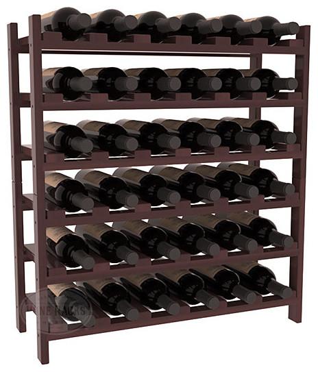 36 Bottle Stackable Wine Rack in Premium Redwood, Walnut Stain + Satin Finish contemporary-wine-racks