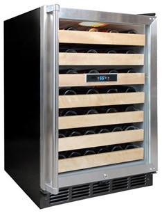 50 Bottle Wine Cooler (Black/Stainless) modern-major-kitchen-appliances