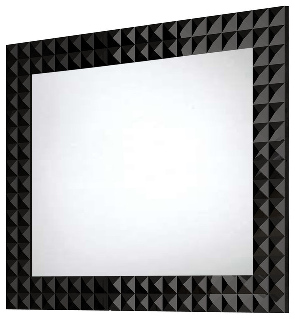 Diamond Wall-Framed Mirror, 31.5 Inches - Contemporary ...