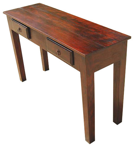 Wood storage drawers console hall entry way foyer table - Table induction 4 foyers ...