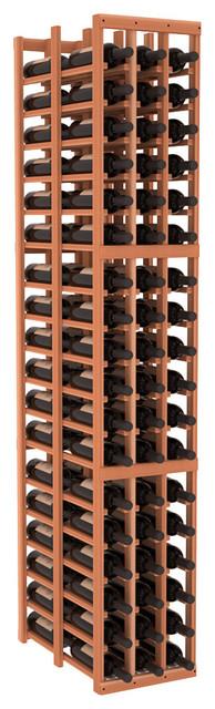3 Column Double Deep Cellar in Redwood contemporary-wine-racks