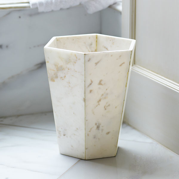 philosopher s marble wastebasket traditional wastebaskets by