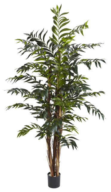 Nearly Natural 5' Bamboo Palm Silk Tree traditional-artificial-flowers
