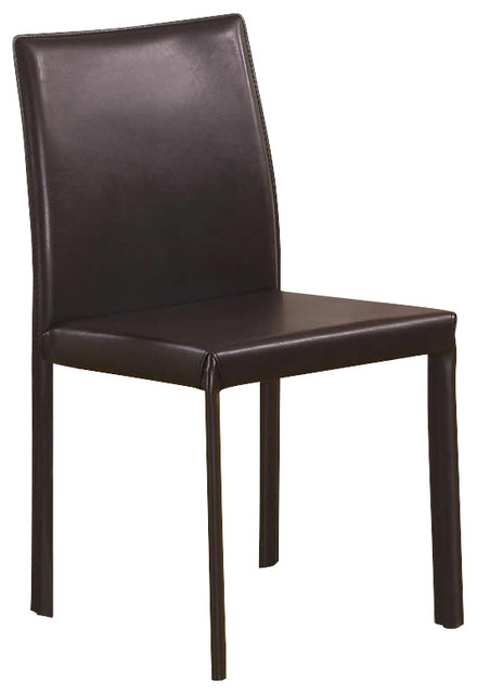Coaster Dining Side Chair in Chocolate transitional-dining-chairs