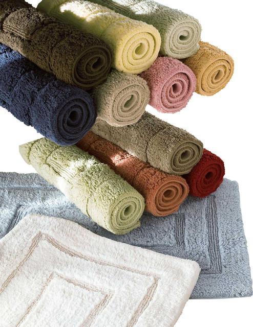 Bliss Luxury Bath Rug Large, Garnet Red traditional-bath-mats