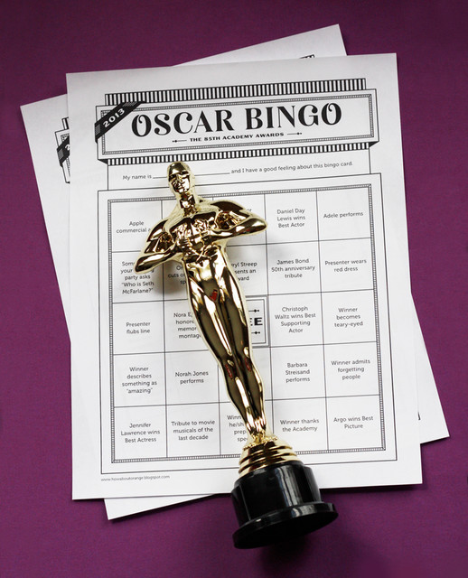Contemporary  Oscar Bingo