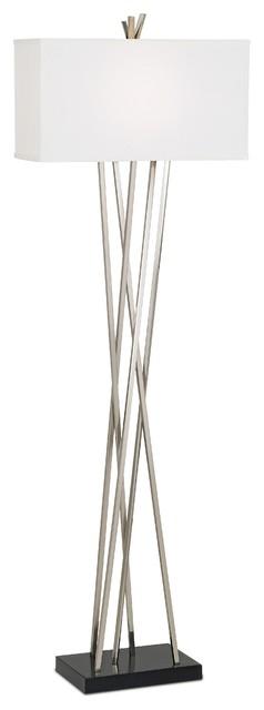 Possini Euro Design Asymmetry Floor Lamp Contemporary
