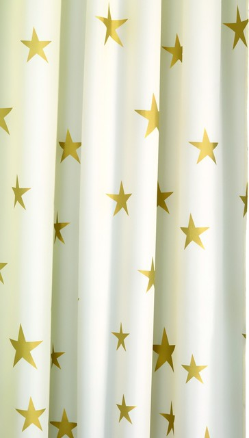 croydex af285603 shower curtain in shimmer gold stars. Black Bedroom Furniture Sets. Home Design Ideas