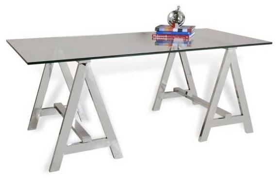 Interlude Home Valeria Sawhorse Desk desks