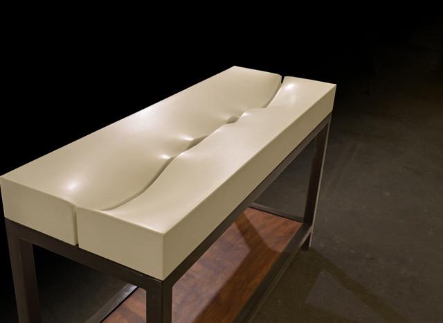 Bathroom Sink Base : Fluidity Sink (Concrete Sink & Steel Vanity Base) - Modern - Bathroom ...