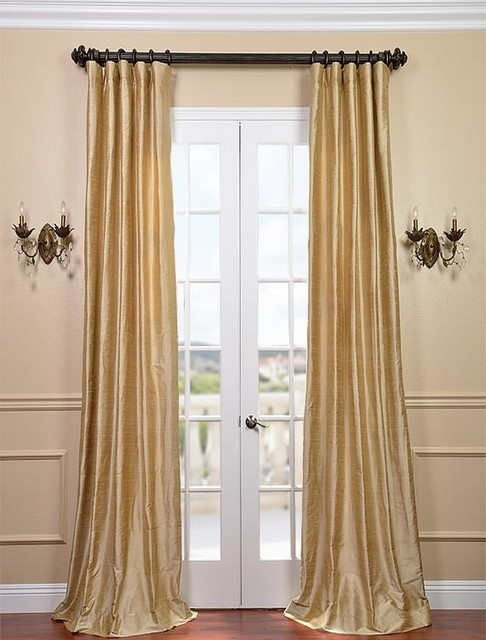 biscotti textured dupioni silk curtain traditional