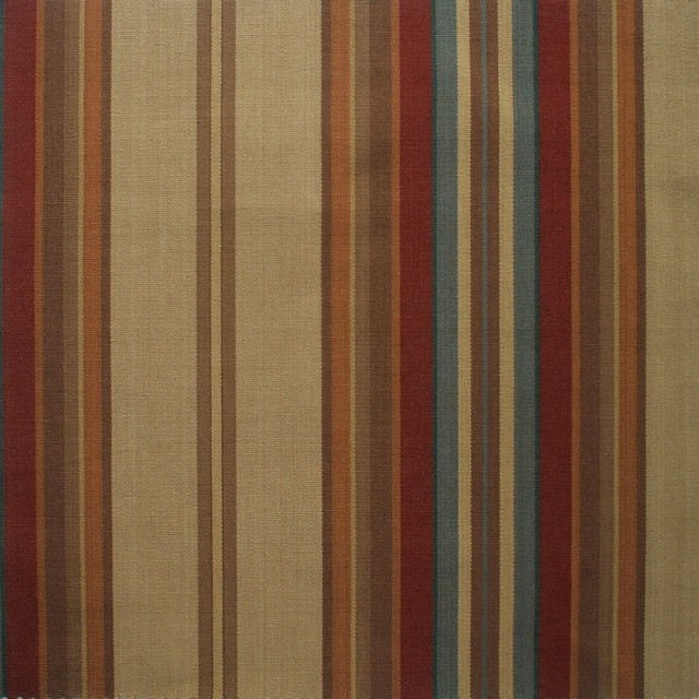 ... , Lined, Carlton Stripe Cardinal Red traditional-shower-curtains