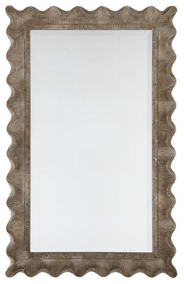 Scallop Edge Mirror traditional-mirrors