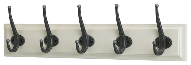 leksvik rack with 5 hooks white transitional hooks. Black Bedroom Furniture Sets. Home Design Ideas