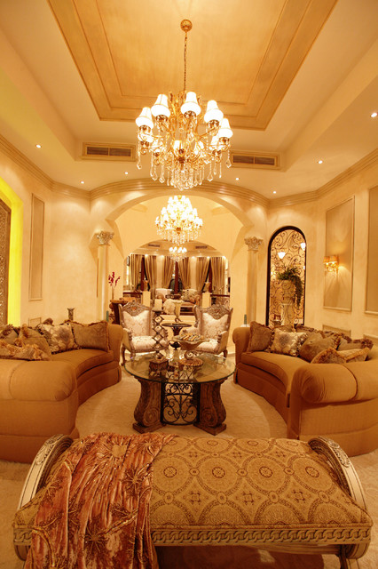 Regal Palace Traditional Living Room Other Metro