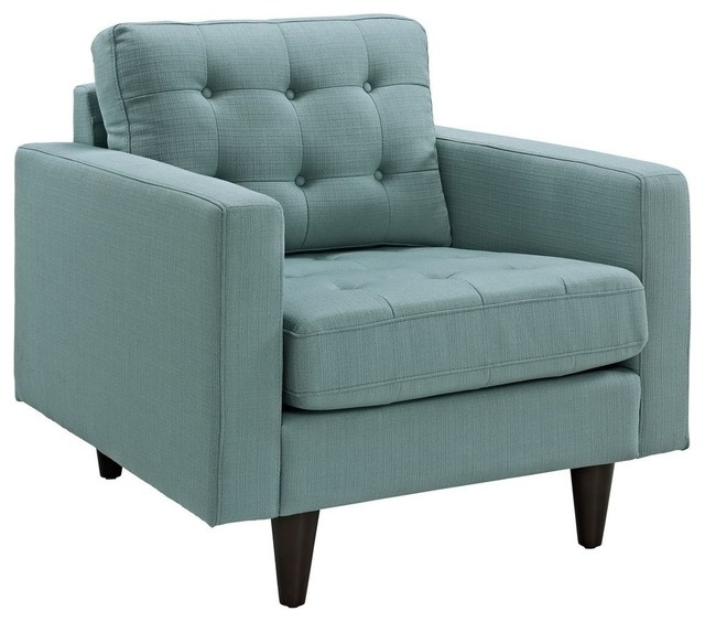 Modern light blue fabric club chair imperial midcentury for Light blue armchair