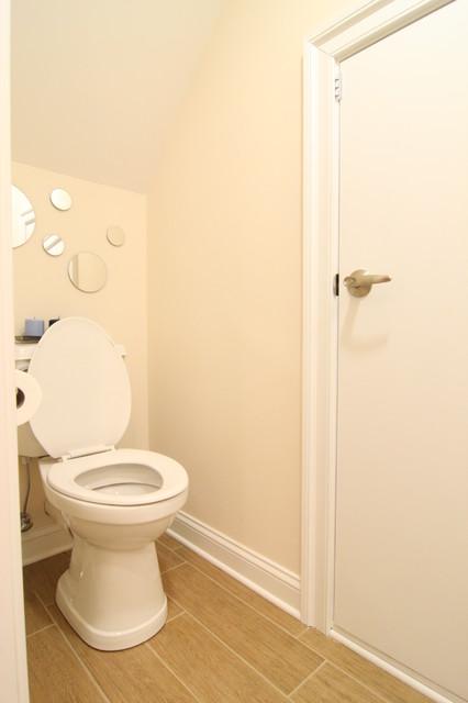 Attic Space Converted into Bathroom traditional-bathroom