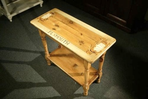 Cottage Style Sofa Table For Plymouth MA farmhouse-side-tables-and-end-tables