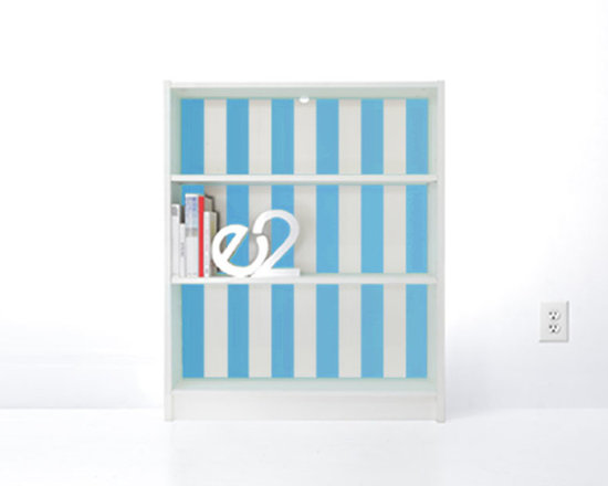 PANYL Azure Thick Stripes for IKEA BILLY - Give your bookcase a bold new look with PANYL Thick Stripes. Easy to apply and no mess!