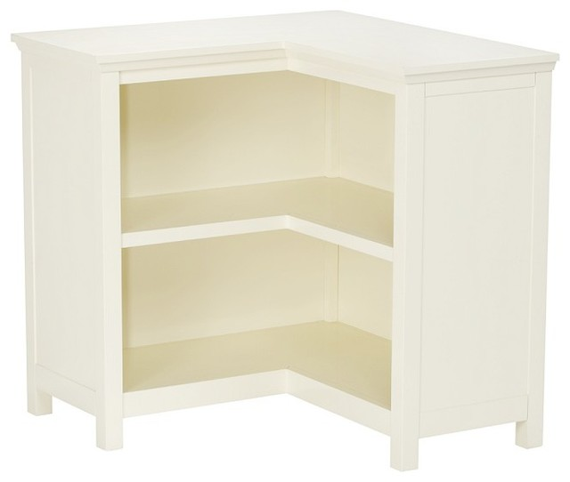 Cameron Corner Bookcase, Simply White - Transitional ...