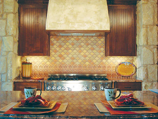Handcrafted Ceramic Tile traditional-kitchen