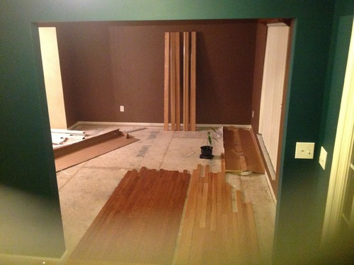 Can 39 t match wood floor colors what to do for Wood floor paint colors