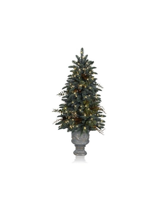 Balsam Hill Mountain Meadow Topiary Artificial Christmas Tree - HOLIDAY ELEGANCE WITH BALSAM HILL'S MOUNTAIN MEADOW TOPIARY TREE |