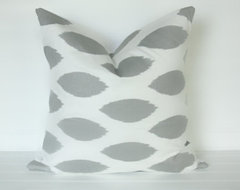 Gray Eye Pillow Cover by The Lacey Placey modern pillows
